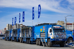 Kamaz Team during the Silk Way Rally 2021's Administrative and Technical scrutineering in Omsk, Russia from June 30 to July 1, 2021 - Photo Julien Delfosse / DPPI