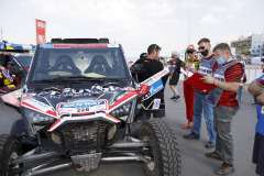 228 Gaspari Enrico (ita), Salvatore Massimo (ita), Xtreme Plus, Polaris RZR 900 EB4, ambiance,   during the Silk Way Rally 2021's Administrative and Technical scrutineering in Omsk, Russia from June 30 to July 1, 2021 - Photo Frédéric Le Floc'h / DPPI