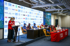 Press conference during the Silk Way Rally 2021's Administrative and Technical scrutineering in Omsk, Russia from June 30 to July 1, 2021 - Photo Julien Delfosse / DPPI