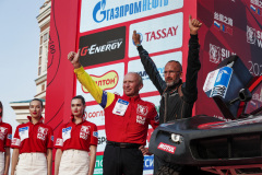 Winocq Alexandre (fra), Serradori, Buggy Century CR6, portrait during the Silk Way Rally 2021's start podium ceremony in Omsk, Russia on July 1, 2021 - Photo Frédéric Le Floc'h / DPPI