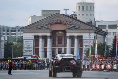 202 Chicerit Guerlain (fra), Winocq Alexandre (fra), Serradori, Buggy Century CR6, action during the Silk Way Rally 2021's start podium ceremony in Omsk, Russia on July 1, 2021 - Photo Frédéric Le Floc'h / DPPI
