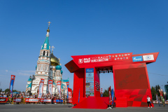 The Dormition Cathedral during the Silk Way Rally 2021's start podium ceremony in Omsk, Russia on July 1, 2021 - Photo Frédéric Le Floc'h / DPPI
