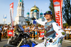 Van Beveren Adrien (fra), Monster Yamaha Rally Official Team, Yamaha 450 WRF, portrait during the Silk Way Rally 2021's start podium ceremony in Omsk, Russia on July 1, 2021 - Photo Frédéric Le Floc'h / DPPI