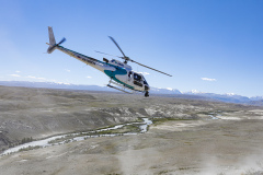 Helicopter TV during the Silk Way Rally 2021's 3rd stage between Gorno-Altaysk, in Russia, and Ölgii, in Mongolia on July 04, 2021 - Photo Frédéric Le Floc'h / DPPI
