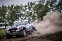 201 Vladimir Vasilyev (rus), Kuzmich Aleksei (rus), VRT, Mini John Cooper Countryman, action  during the Silk Way Rally 2021's Administrative and Technical scrutineering in Omsk, Russia from June 30 to July 1, 2021 - Photo Frédéric Le Floc'h / DPPI